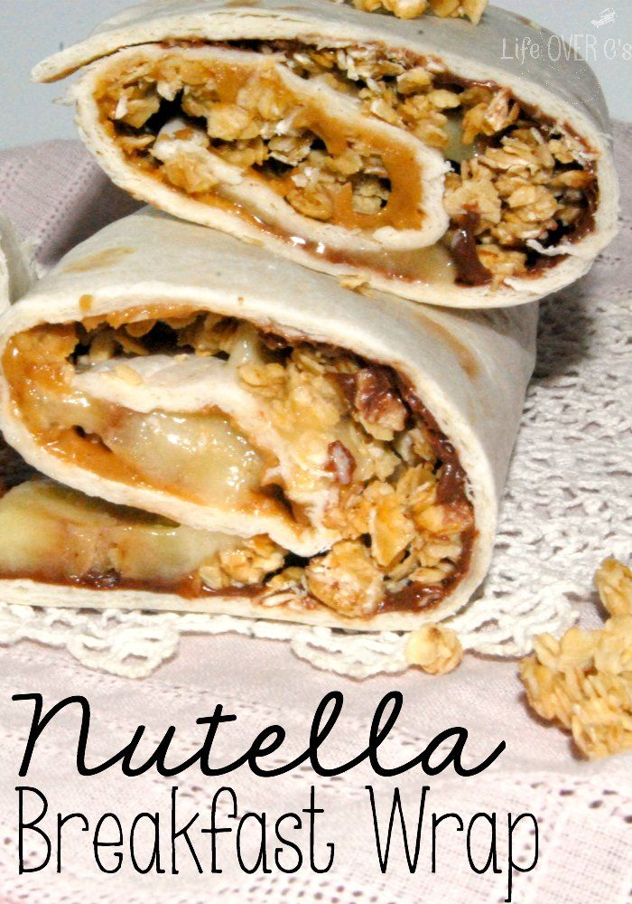 Nutella Breakfast Wraps.  The #homeschool environment is ripe with opporunity for great food.