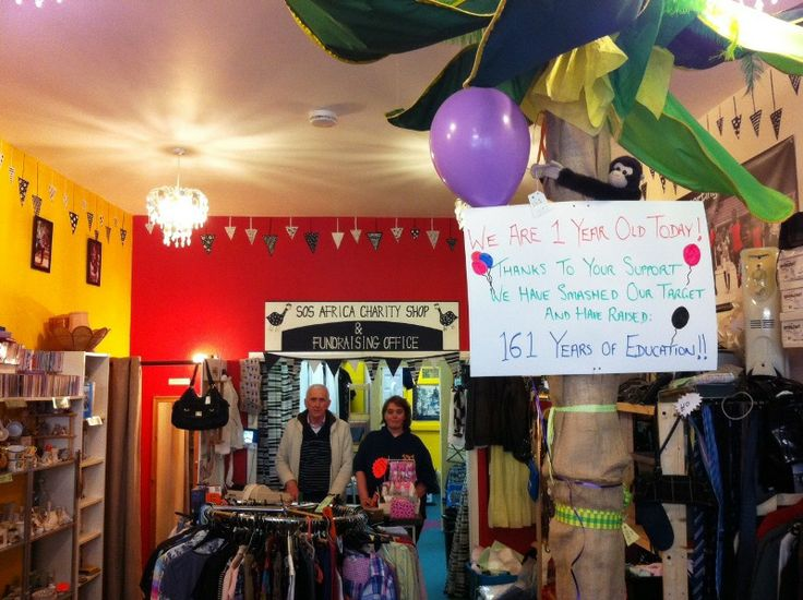 Our #CharityShop has just celebrated its #1stBirthday, and has raised an incredible 161 years of education!