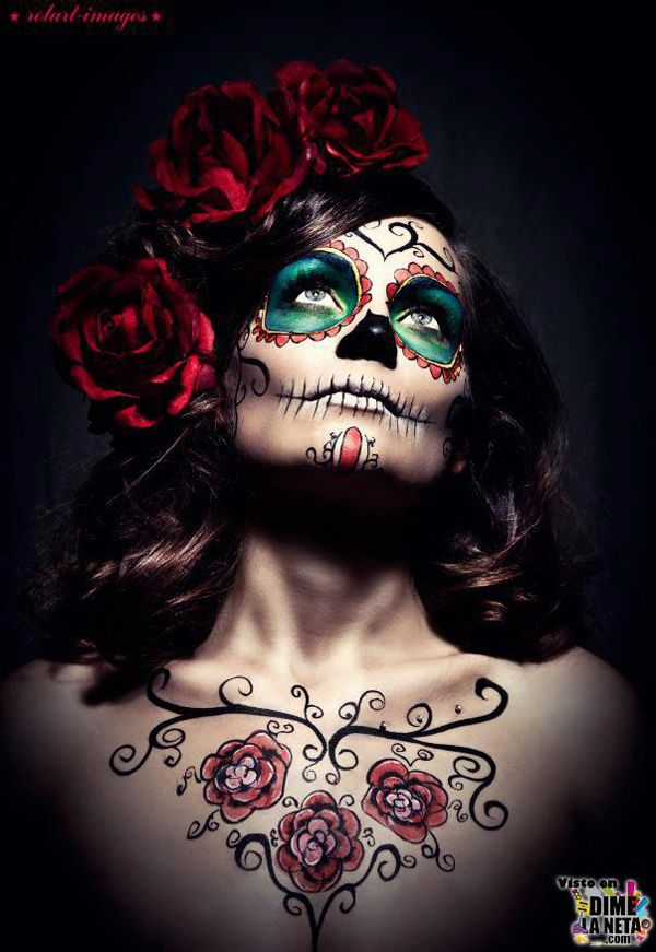 la catrina ideas pinterest sugar skulls costumes and dead makeup. Black Bedroom Furniture Sets. Home Design Ideas