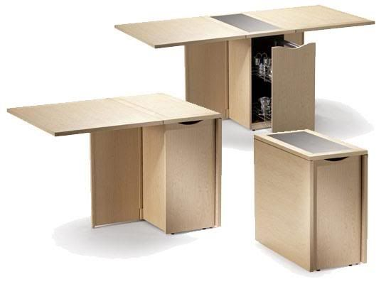 Skovby multifunctional sm101 great for small spaces where for Small dining table with storage