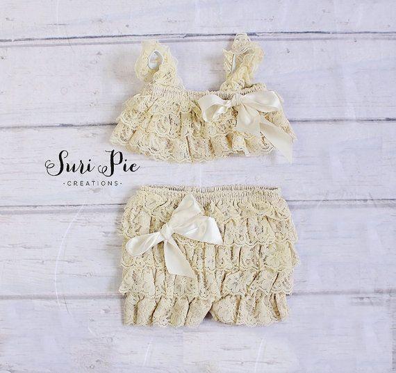 2015 sommer stil baby mädchen spitze petti top und hosen nette kinder rüschen spielanzug-set 2 T kinder kleidung set heißer verkauf