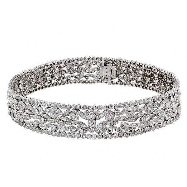Diamond Choker Necklace in Platinum ❤ liked on Polyvore featuring jewelry, necklaces, accessories, bracelets, choker necklace, choker jewelry, platinum jewellery, platinum jewelry and diamond jewellery