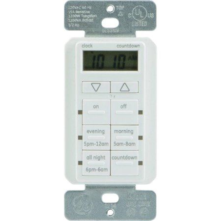 GE 25055 Touchsmart In-Wall Digital Timer with 6 Pushbuttons, Beige