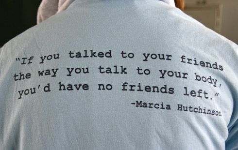 Speak to yourself the way you speak to a loved friend. With kindness.