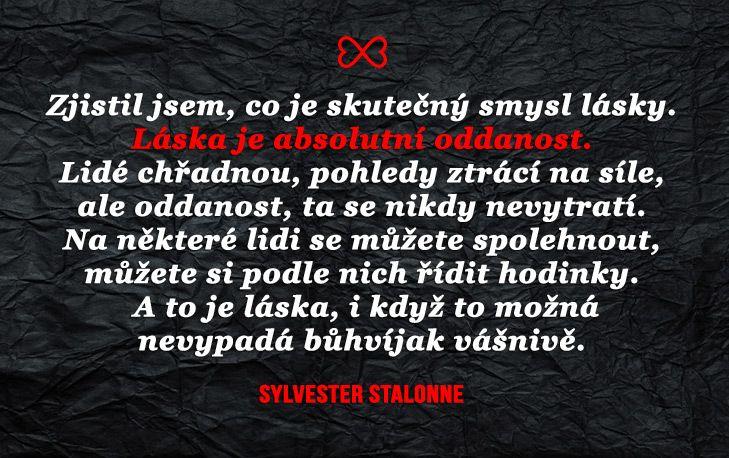 Sylvester Stallone?! I svalovci vědí, co je Láska!  www.umenimilovat.cz