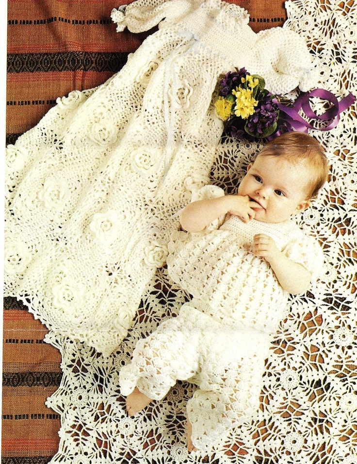 Baby Dress Crochet Pattern Victorian : 17 best images about Crochet christening items on ...