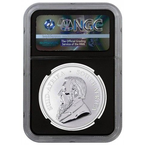 2017 1 OZ SOUTH AFRICA KRUGERRAND .999 SILVER COIN (NGC SP70 FIRST DAY OF ISSUE - BLACK CORE EXCLUSIVE KRUGERRAND LABEL). #bullion #mint #silver #inventory #coins