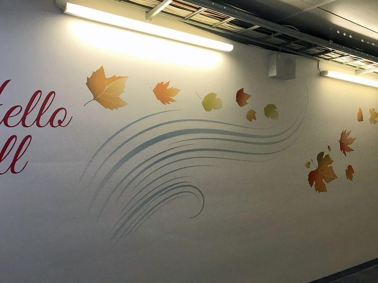 Wall decoration at Helsinki-Vantaa WTC.