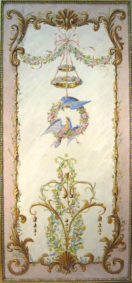 "Large panel Panel with Birds 73""x32"" $4,800.00  #3253"