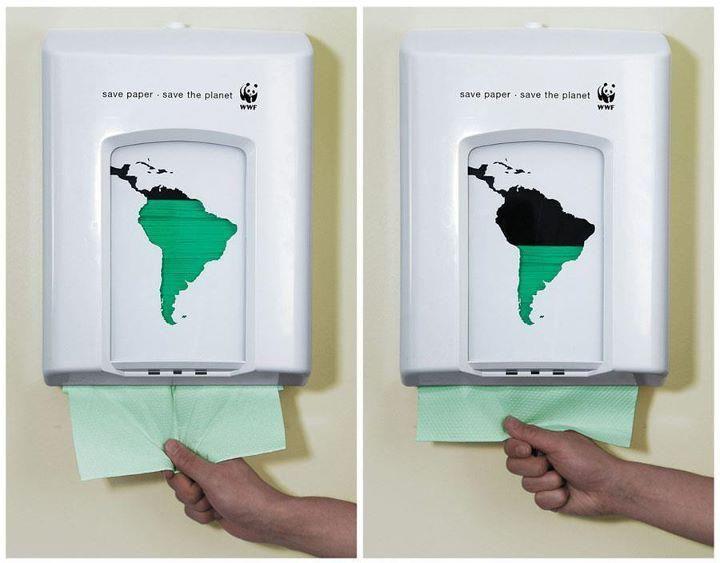 Economia de Papel.... (detalhe... só pode ser papel verde)