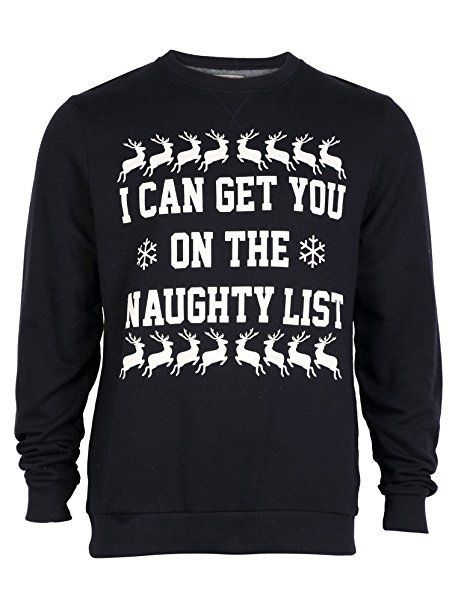 5d10e9688 I can get you on the naughty list Christmas jumper | Rude Christmas ...