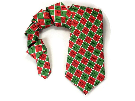 Chemistry tie Periodic Table hohoho Christmas by TheWoolFish