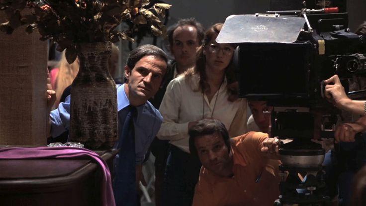 « La nuit américaine » de François Truffaut (1973) avec François Truffaut, Jacqueline Bisset, Jean-Pierre Léaud, Dani, Jean-Pierre Aumont, Jean-François Stevenin, Bernard Menez