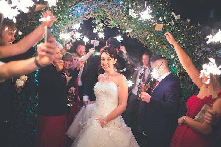Bride & Groom sparkler exit - Wedding photography