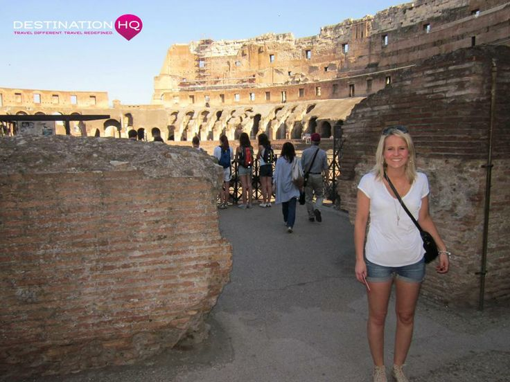 Mel at the Colosseum; Rome