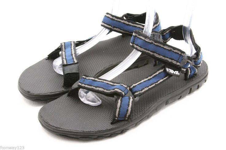 TEVA mens sandals Size 12 STORM BLUE waterproof river water sport shoes EU 11 #Teva #SportSandals