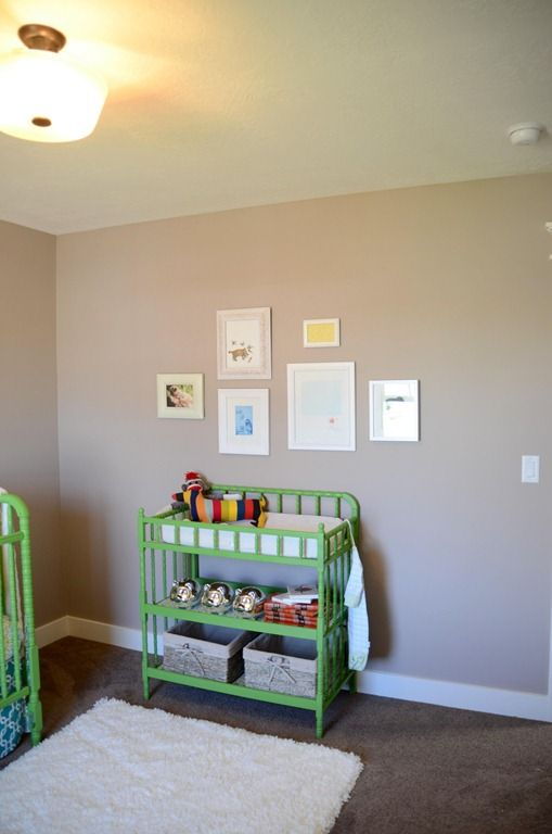 love the painted changing table