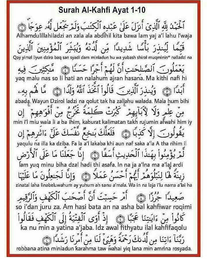 Al Kahfi Berapa Ayat : kahfi, berapa, Keutamaan, Surah, Kahfi, Kumpulan, Contoh