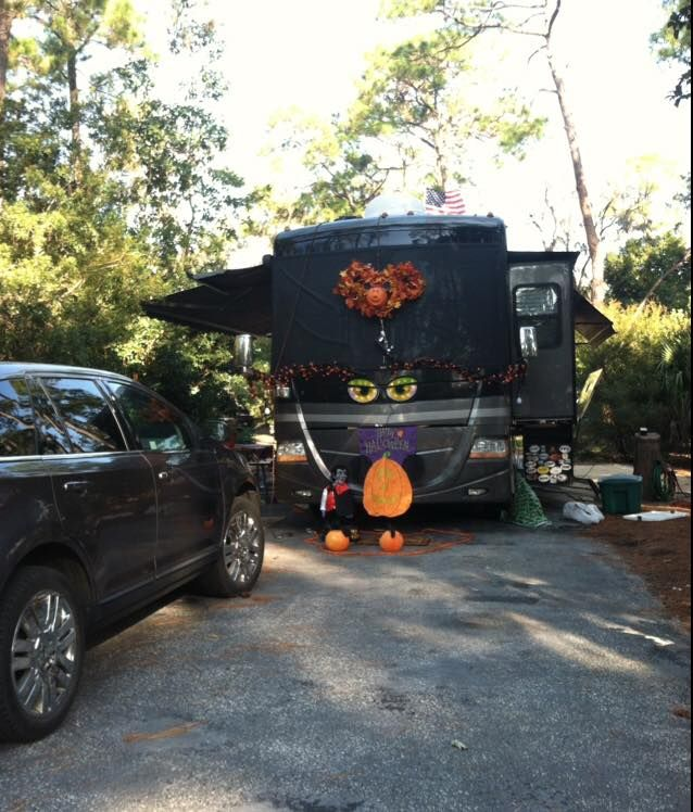 Decorated For Halloween Camper Lights Pinterest