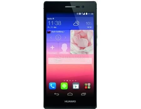 "Смартфон Huawei Ascend P7 Black (Android 4.4/Kirin 910T 1800MHz/5.0"" (1920x1080)/2048Mb/16Gb/4G LTE 3G (EDGE, HSDPA, HSUPA)) [P7-L10 Black]  — 16990 руб. —  5.0"" Hi-Silicon 1800 МГц 2048 Мб Flash drive 16 Гб Android 4.4 бат. - до 14.0 ч Черный"