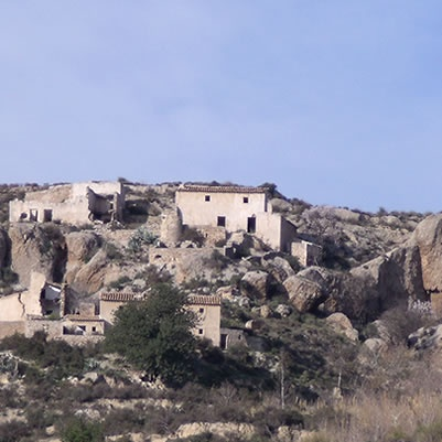 Los Yesares de Sorbas walking trail -  4.4km -the trail starts in the abandoned hillside village of Marchalico Viñicas...