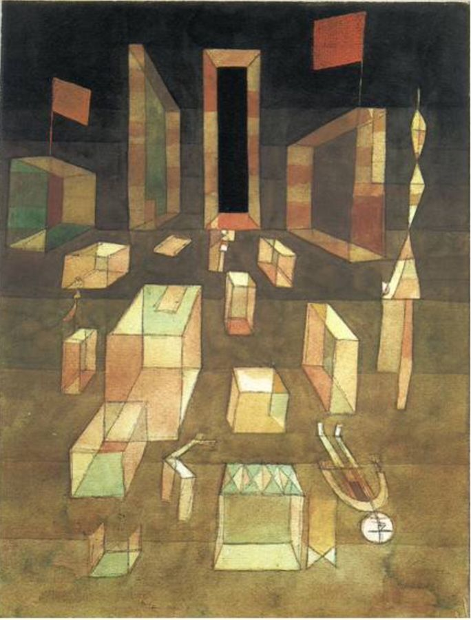 Paul Klee - Uncomposed Objects in Space, 1929