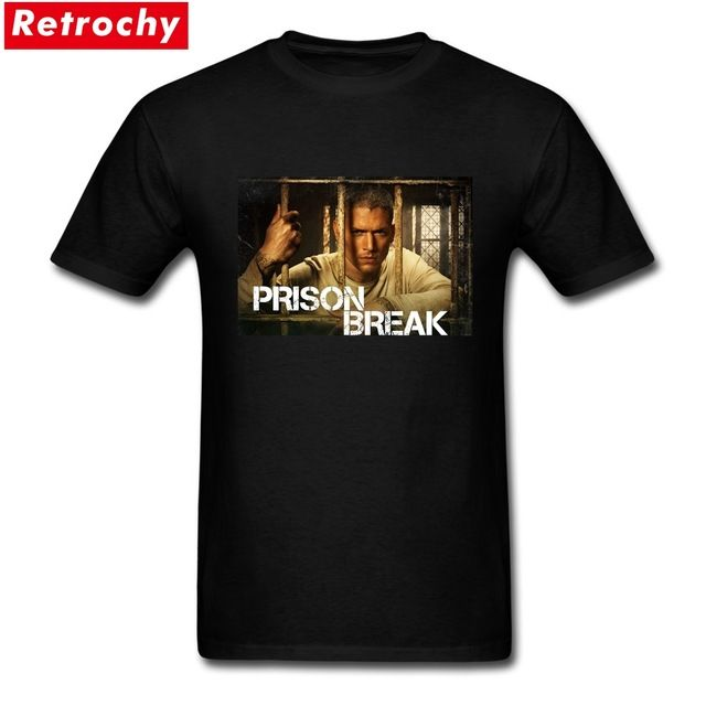 Special offer Men Full Vintage Michael Scofield T Shirt Prison Break Theme Shirts  Team Short Sleeve Tee Crewneck Cotton Plus Size T-shirts just only $12.10 with free shipping worldwide  #tshirtsformen Plese click on picture to see our special price for you