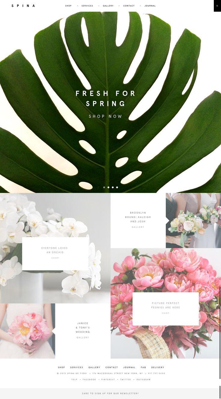 stylish florist website https://spinanyc.com/