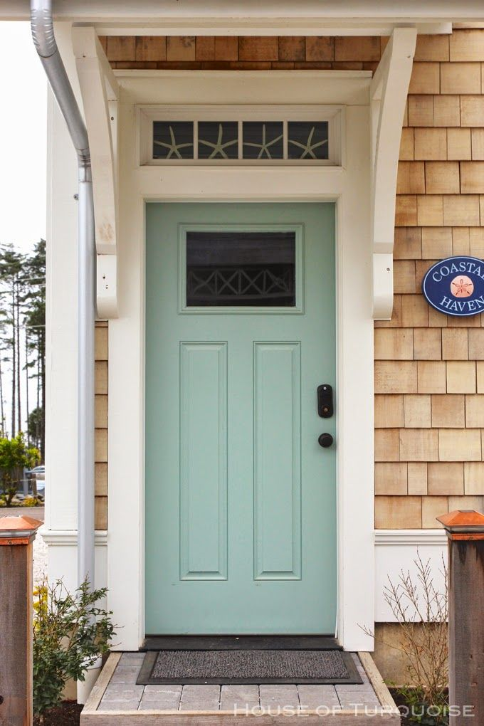 House of turquoise turquoise tour of seabrook washington for New front door for house