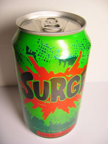 Surge! OMG! I will never forget when I spent a week with the Grandparents during one summer. Grandma bought me a 12 pack because that's what grandmas are for and after ONE, we took a TWO hour walk on a mountain trail until i had it out of my system...and i never saw the rest of that 12 pack... ;)