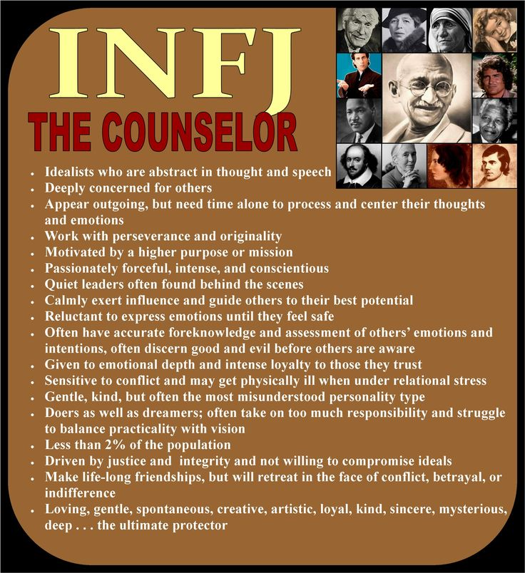 Yep, this is pretty much me. INFJ