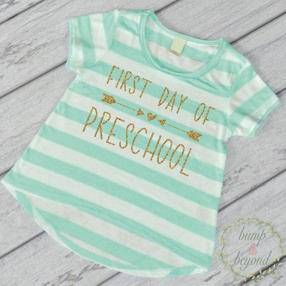 1st Day of Preschool Shirt Back to School Outfit Preschool Shirt First Day of School Shirt Back to School Outfit by BumpAndBeyondDesigns
