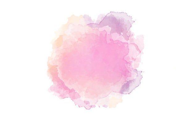 Free Watercolor Clip Art Blue Hues Flower Background Design