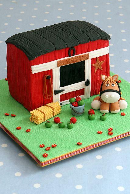 cute horse cake