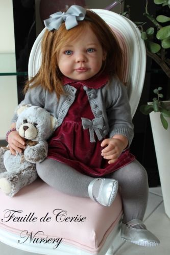 Feuille de Cerise Nursery - reborn toddler doll - micro-rooting human hair | eBay