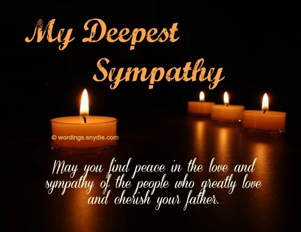 And Your And Family Sympathy Condolences Our Deepest You