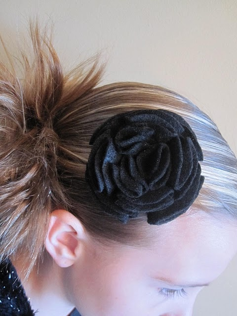 Folded flower hair clip