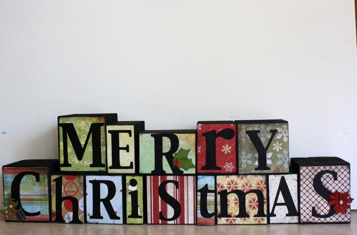 Merry Christmas block letters | block letters | Pinterest ...