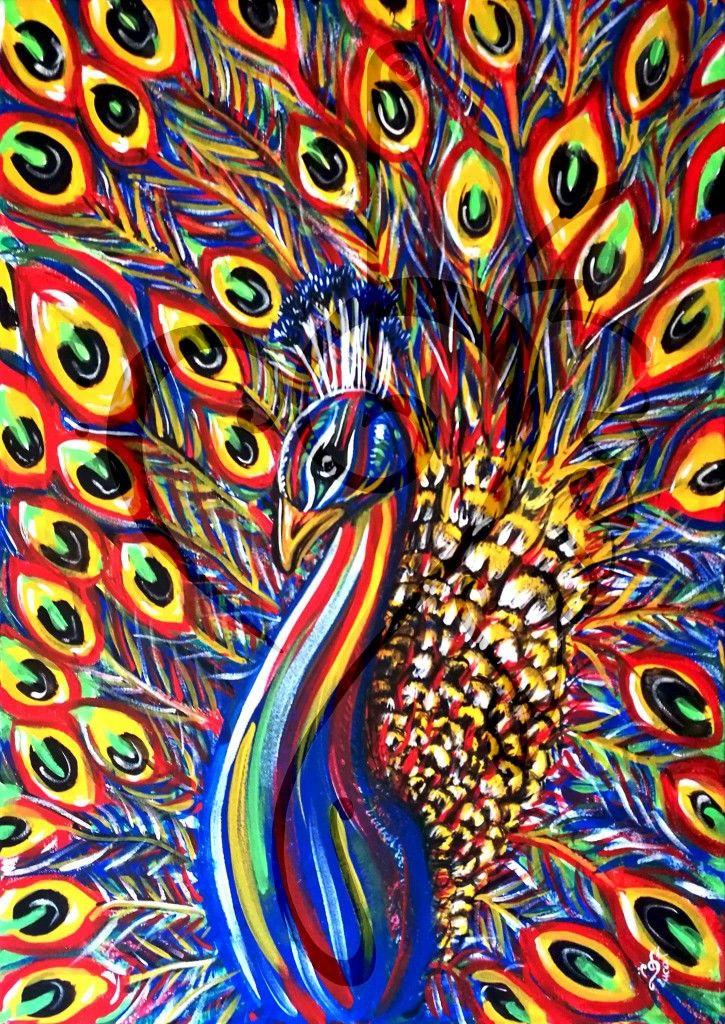 The Peacock King - 2017 - acrylic on canvas - 50x70cm