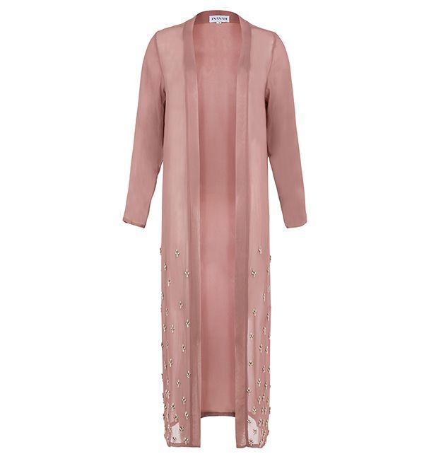 Rose Scattered Crystal Kimono - £100.00 : Inayah, Islamic Clothing & Fashion, Abayas, Jilbabs, Hijabs, Jalabiyas & Hijab Pins