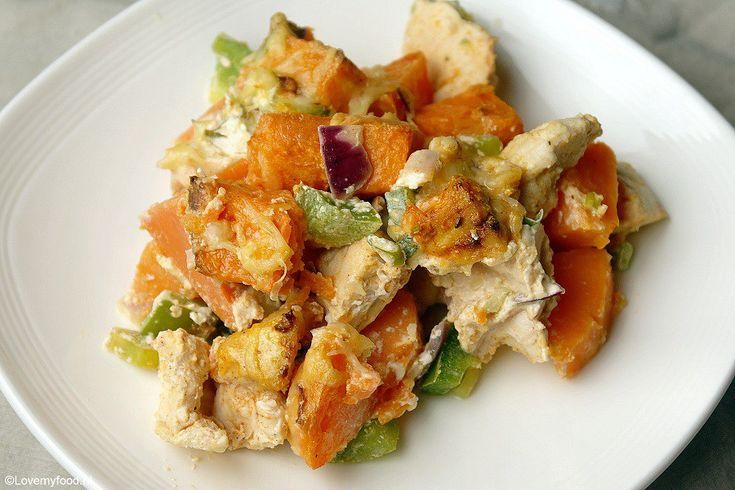 Ovenschotel met kip en zoete aardappel 4