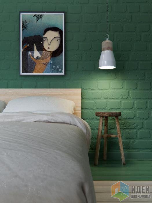 Дизайн-проект в таунхаусе, интерьер спальни для гостей