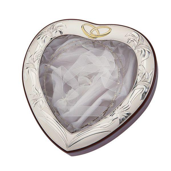 Στεφανοθήκη καρδιά Prince silvero ασήμι 925