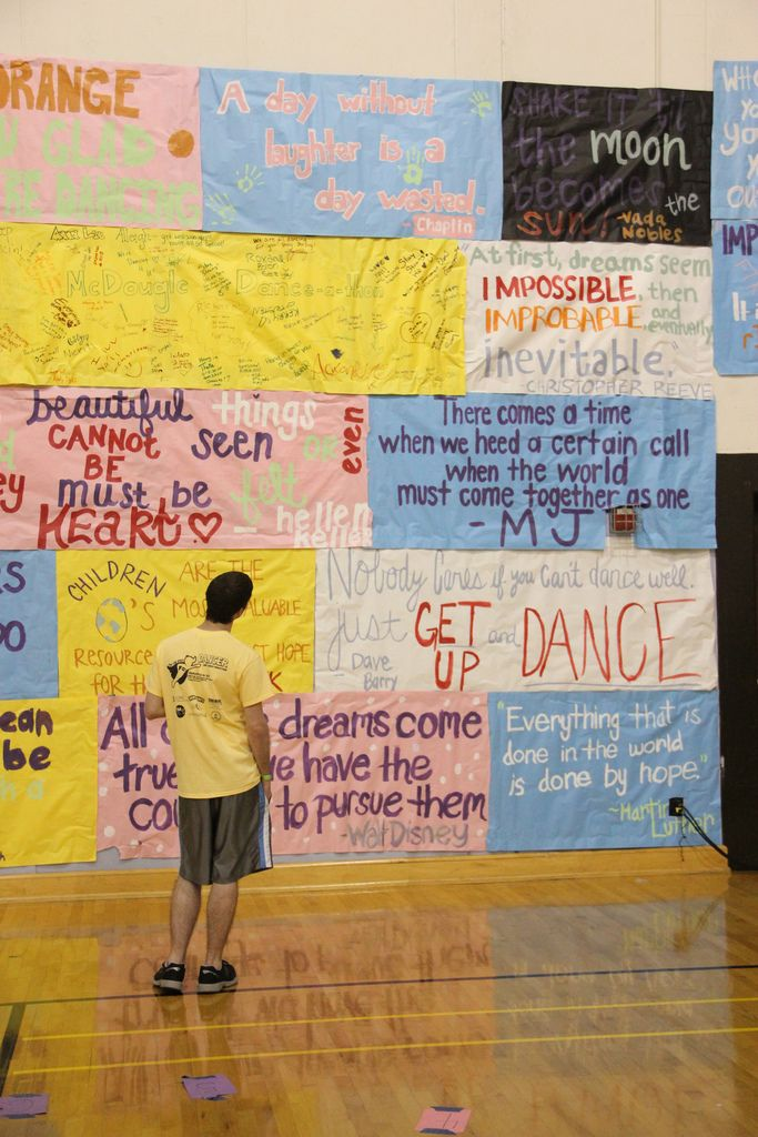 Looking for some inspiration? Read the walls! Banners cover every wall in Fetzer Gym A and Gym B, full of quotes to inspire you!
