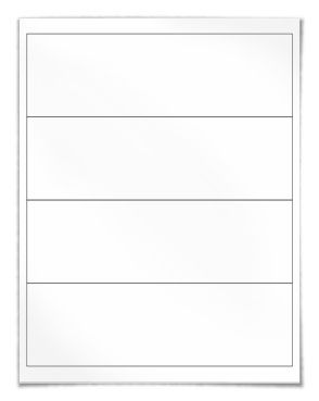"""Free blank water bottle label template download: WL-5960 template in Word .doc, PDF and other formats. 