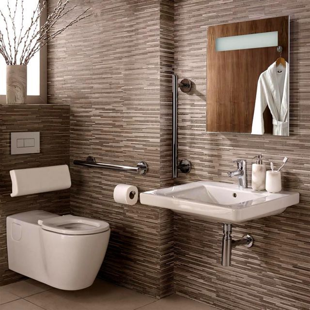 Ideal Standard Concept Freedom Ensuite Bathroom Package With Extended Wall Hung Pan Higher Seat Simple Bathroom Designs Bathroom Dimensions Ensuite Bathrooms