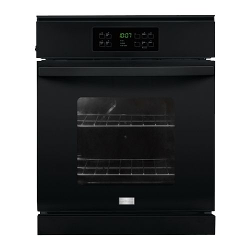 """Frigidaire - 24"""" Built-In Single Electric Wall Oven - Black"""