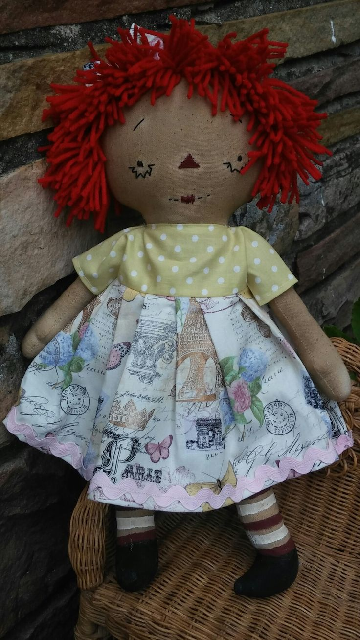 Annie  made from a Sweet Meadows Farm pattern available at Old Bag Designs on Facebook