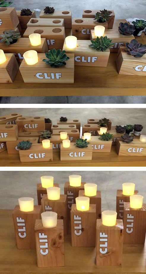Diy wooden centerpieces blocks of wood cut and drilled