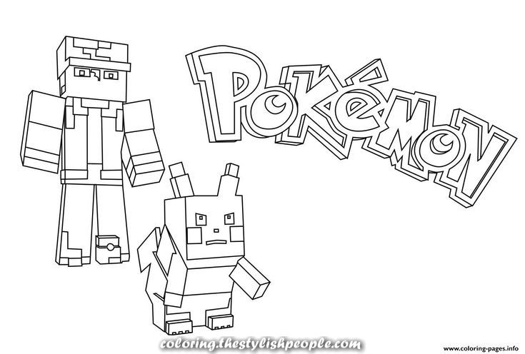 Print Minecraft Pokemon Coloring Pages With Images Minecraft Coloring Pages Pokemon Coloring Pokemon Coloring Pages